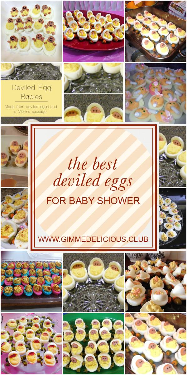 The Best Deviled Eggs For Baby Shower